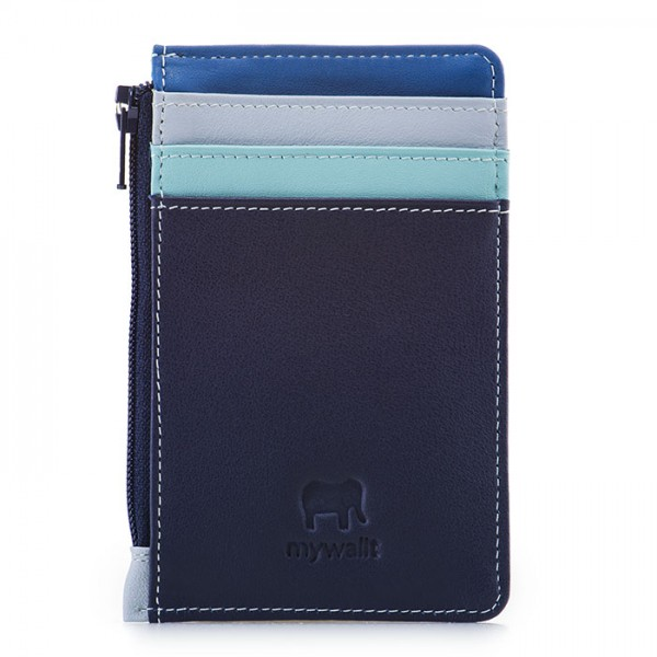 Credit Card Holder with Coin Purse Denim