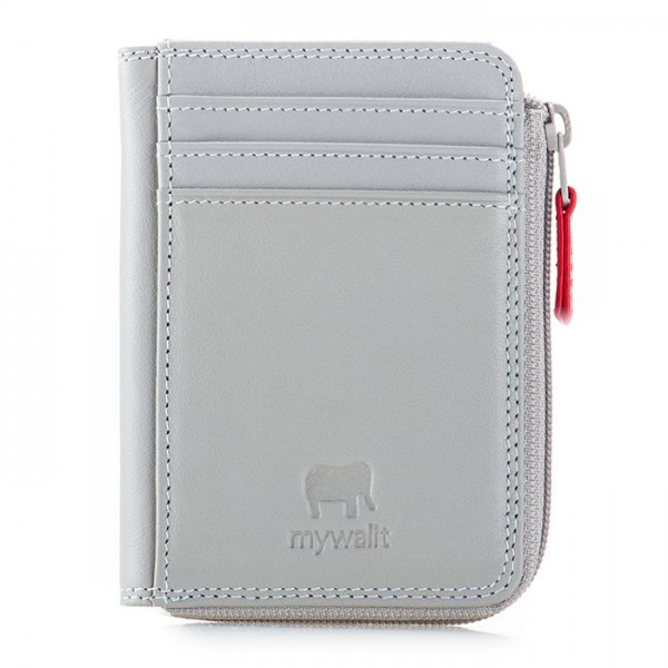 RFID Small Zip Purse Grey