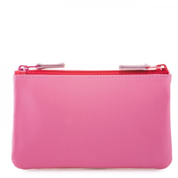 Double Zip Pouch Ruby