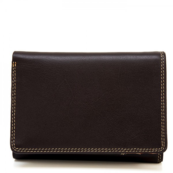 Men's Tri-fold Leather Wallet Safari Multi