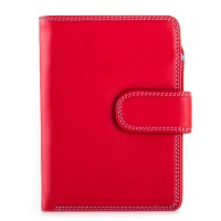 RFID Medium Snap Wallet Red