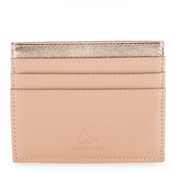 Double Sided Credit Card Holder Nude Rose-Gold