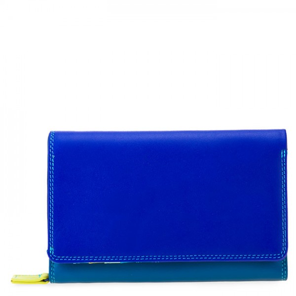 Medium Leather Flapover Wallet Seascape