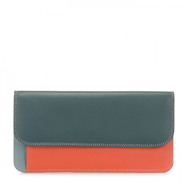 Simple Flapover Purse/Wallet Urban Sky