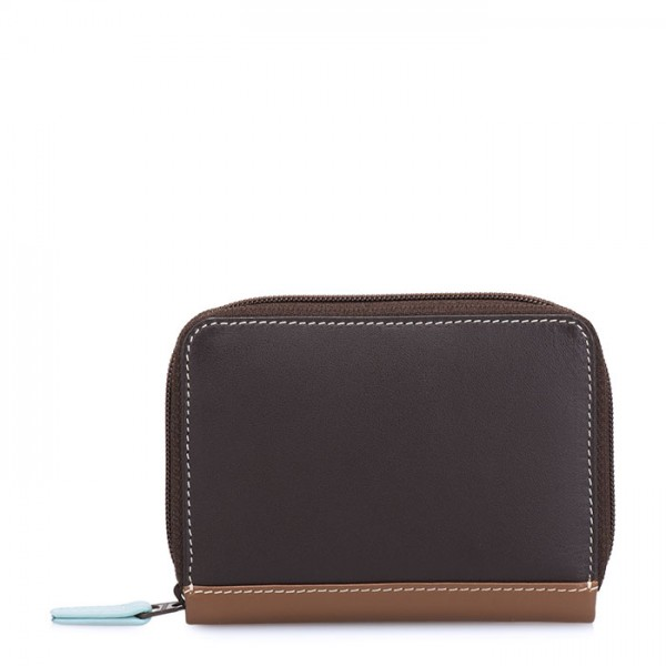 RFID Zipped Credit Card Holder Mocha