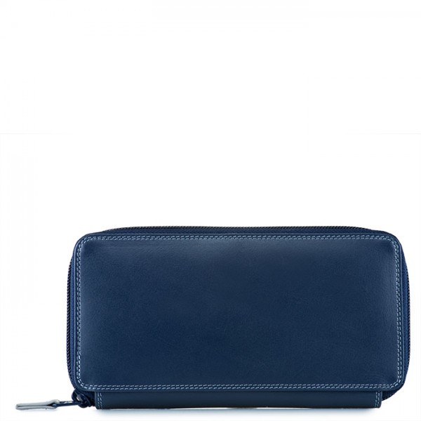 Large Zip Around Purse Royal