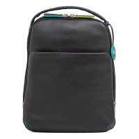 Office Large Leather Cross Body Backpack Black Pace
