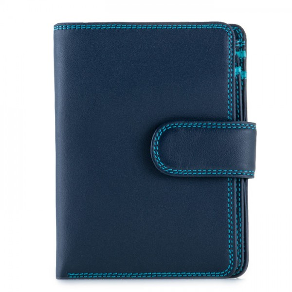 RFID Medium Snap Wallet Navy