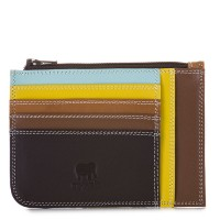 Slim Credit Card Holder with Coin Purse Mocha