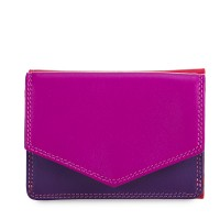 Tri-fold Leather Wallet Sangria Multi