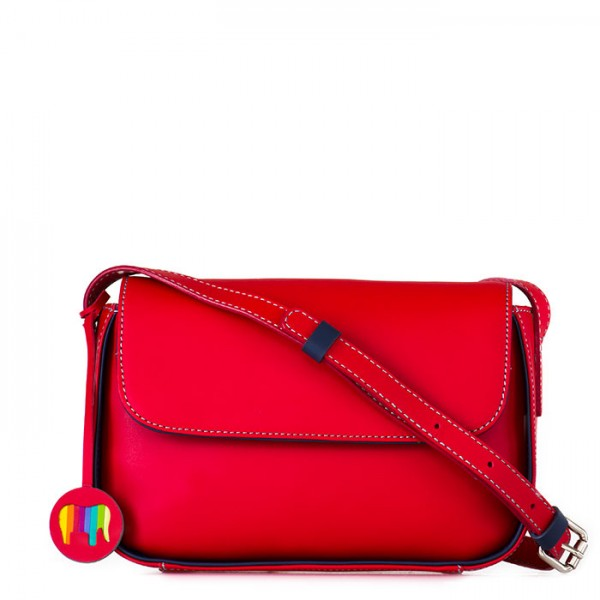 Amarante Flapover Crossbody Red