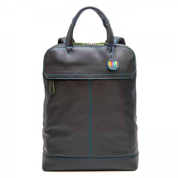Slim Leather Backpack Black Pace
