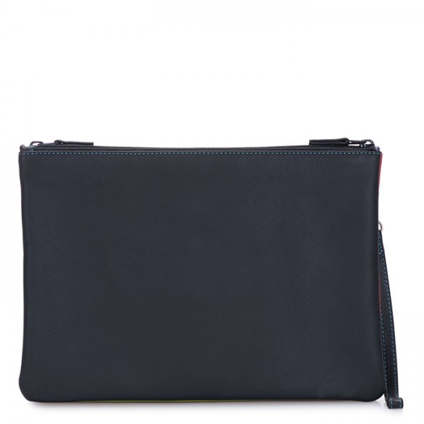 Medium Double Zip Pouch Black Pace