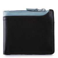 Greenwich Wallet with Middle Zip Section Black