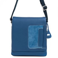 Havana Flapover Crossbody Denim