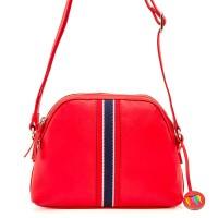 San Diego Crossbody Half Moon Bag Red