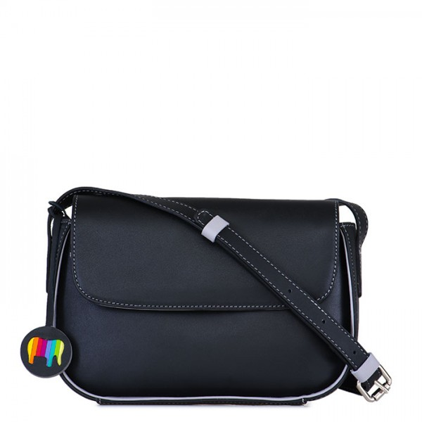 Amarante Flapover Crossbody Black