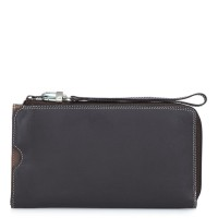 Zip Round Multi Purse with Wristlet Mocha