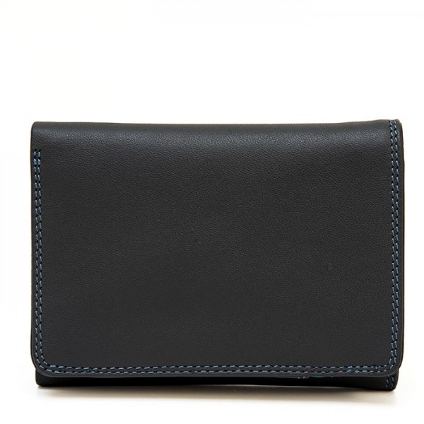 Men's Tri-fold Leather Wallet Smokey Grey