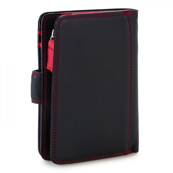 RFID Medium Snap Wallet Black