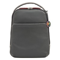 Office Large Leather Cross Body Backpack Storm