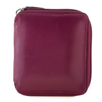 RFID Men's Zip Around Wallet Plum-Caribbean