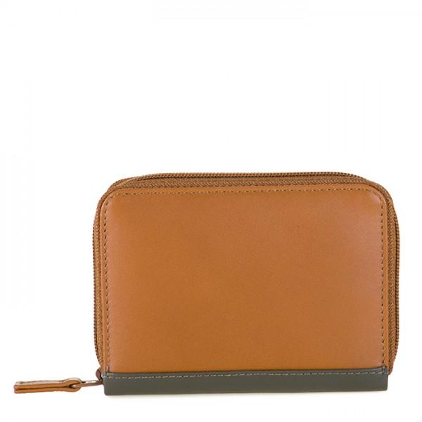 Zipped Credit Card Holder Caramel