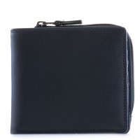 Standard Wallet w/Zip Section Black