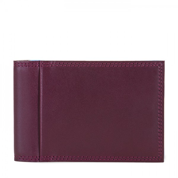 Men's Bi-fold CC Holder Plum-Caribbean