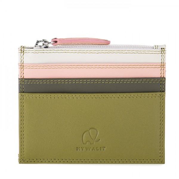 Porte-cartes zippé Olive