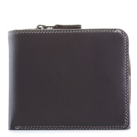 Wallet w/Middle Zip Section Mocha