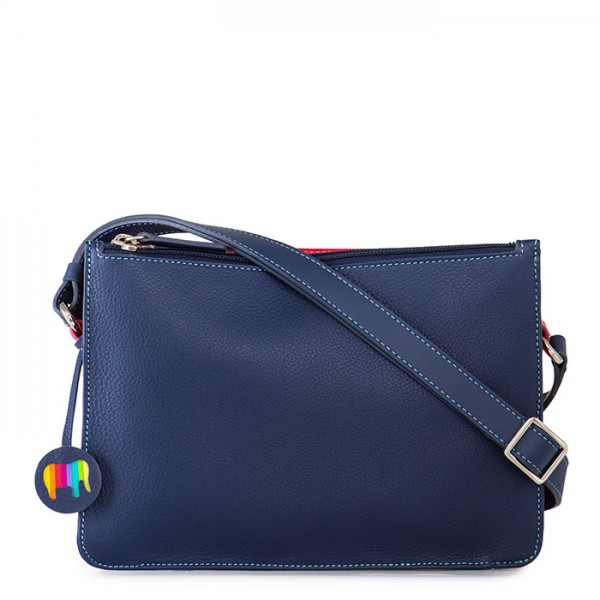 Rhodes Zip Top Crossbody Blue