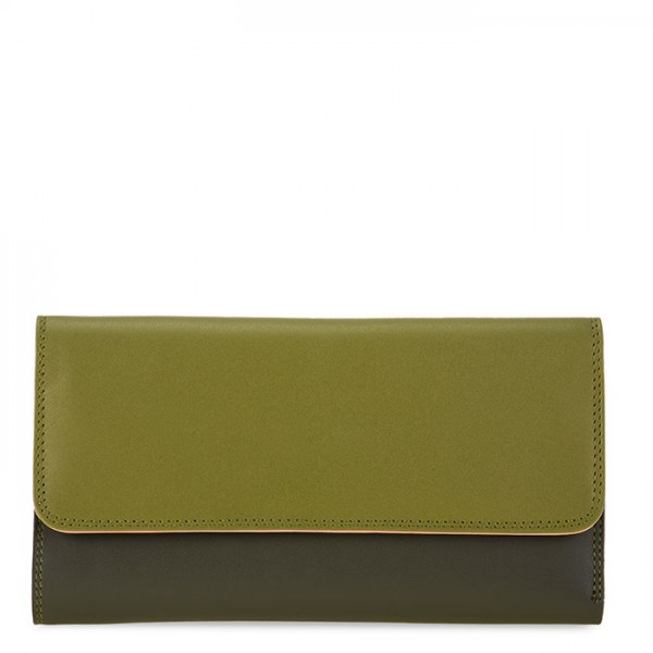 Tri-fold Zip Wallet Olive