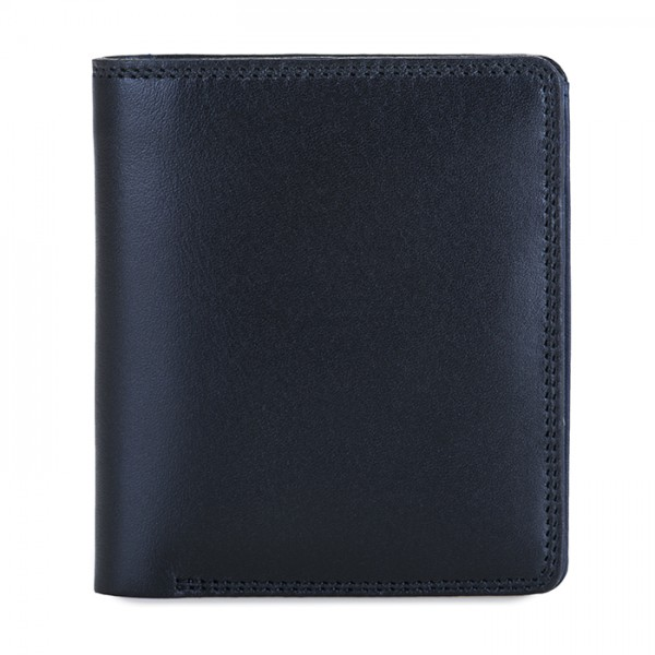 Men's Bi-fold with Pull Out Tab Black-Blue