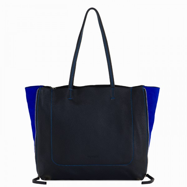 Icon Shopper Schwarz-Blau