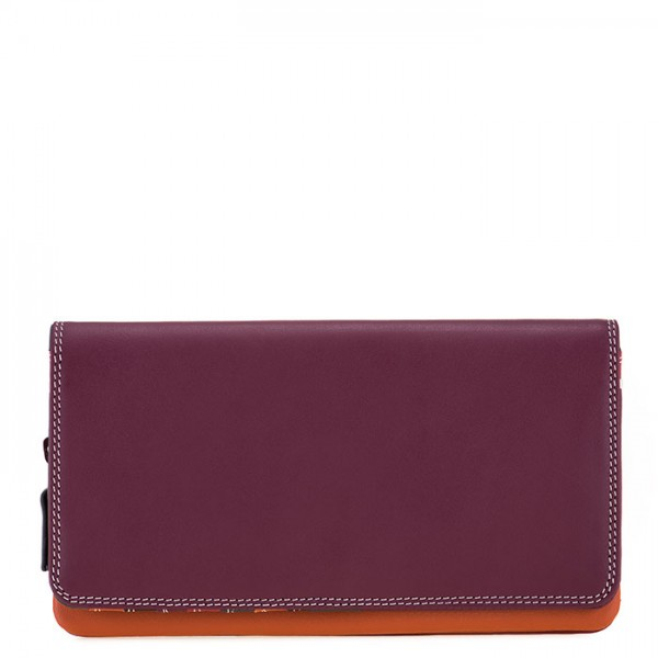 Flapover Wallet with Coin Section Chianti