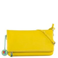 Bruges Foldover Clutch Bag Yellow