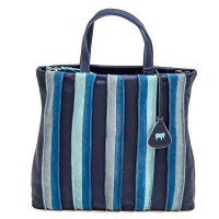 Laguna Large Leather and Suede Shopper Denim
