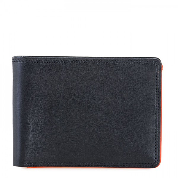 RFID Men's Jeans Wallet Black-Orange