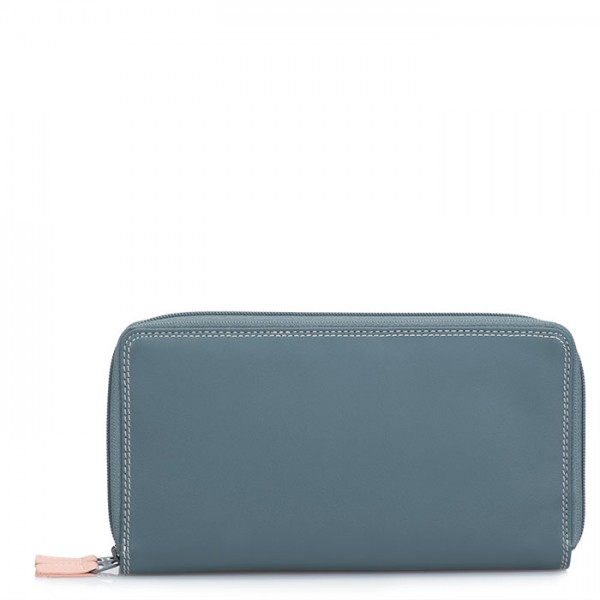 ca7d37321defc Large Double Zip Wallet Urban Sky