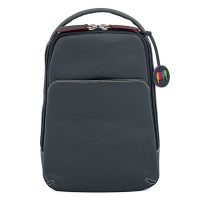 Office Small Leather Cross Body Backpack Storm