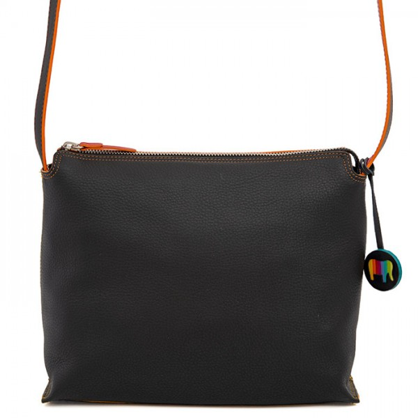 Ancona Leather Cross Body Black Pace