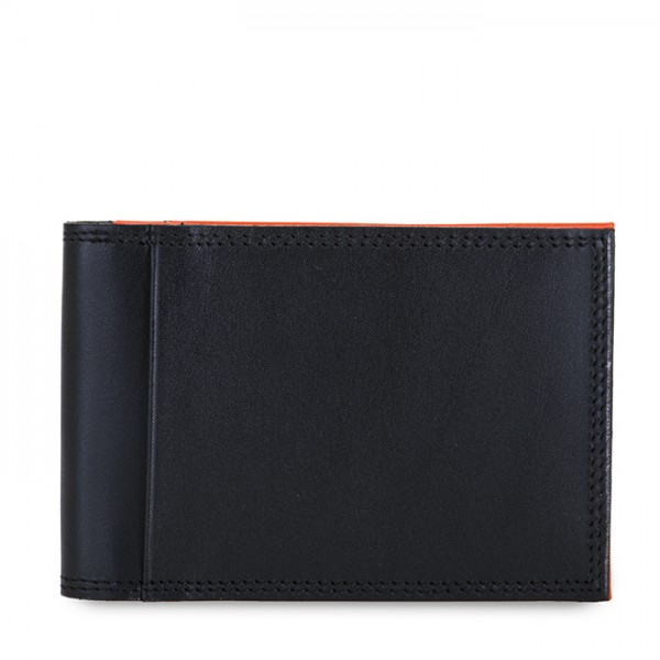 Men's Bi-fold CC Holder Black-Orange