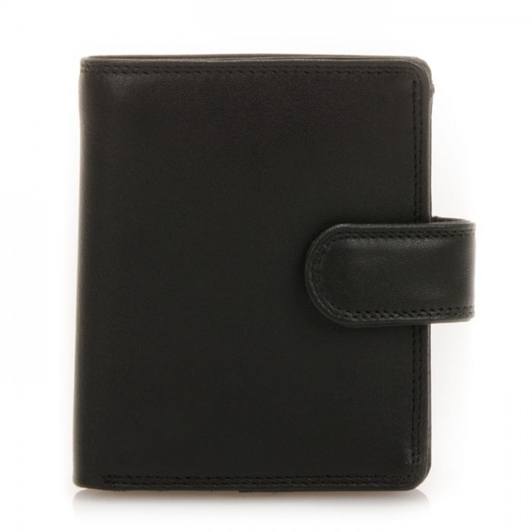 Tri-fold Tab Wallet Black
