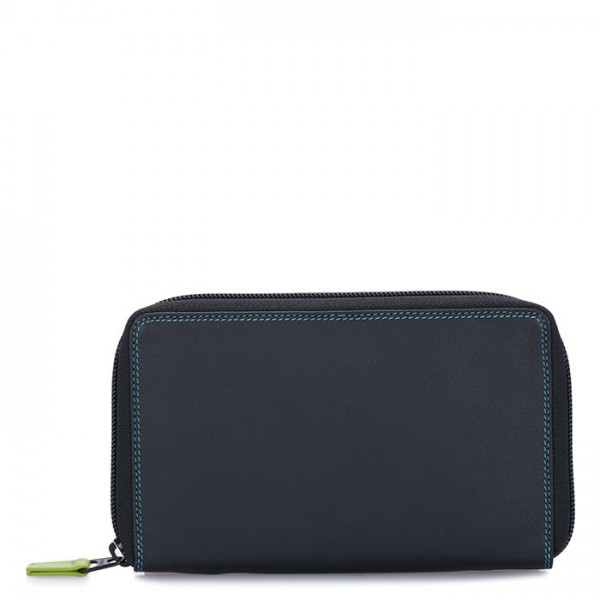 Zip Around Wallet w/Phone Pocket Black Pace