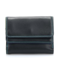 Small Double Flap Wallet Black Pace
