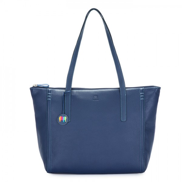 Vienna Large Tote Blue